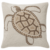 Natural Turtle Beaded Accent Pilow