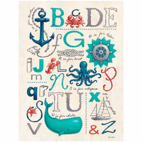 Nautical ABC's Canvas Wall Art - 18 x 24