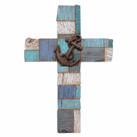 Nautical Blocks Wall Cross
