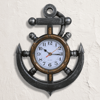 Nautical Bronze Anchor Wall Clock