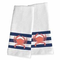 Nautical Crab Hand Towels - Set of 2