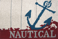 Nautical Hooked Accent Rug