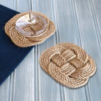 Nautical Knotted Rope Coasters - Set of 4