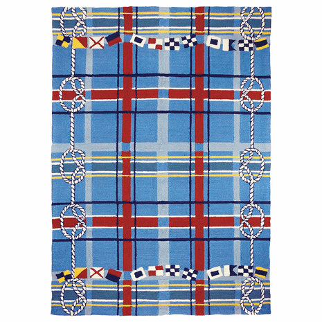 Nautical Plaid Indoor/Outdoor Rug - 5 x 7