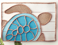 Nautical Rope Turtle Wall Sign - CLEARANCE