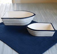 Nautical Rowboat Serving Bowls
