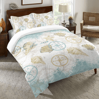 Nautical Shells Duvet Cover - King - OVERSTOCK