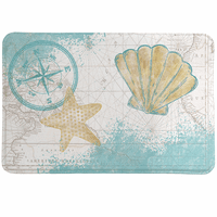Nautical Shells Memory Foam Mat