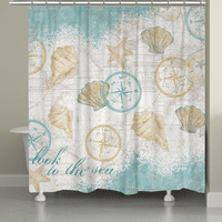 Nautical Shells Shower Curtain