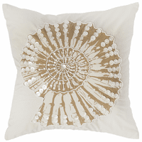 Nautilus Embellished Accent Pillow