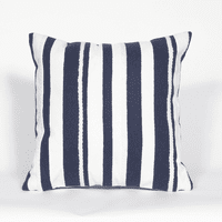Navy and White Stripes Indoor/Outdoor Pillow - 20 x 20