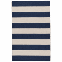 Navy Bay Stripes Rug Collection