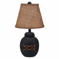Navy Bean Pot Accent Lamp with Rope