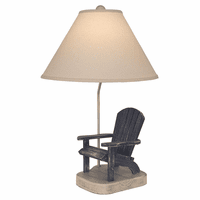 Navy Blue Adirondack Chair Table Lamp