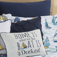 Navy Blue Diamond Tuck Pillow