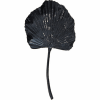 Navy Blue Iron Leaf Sculpture