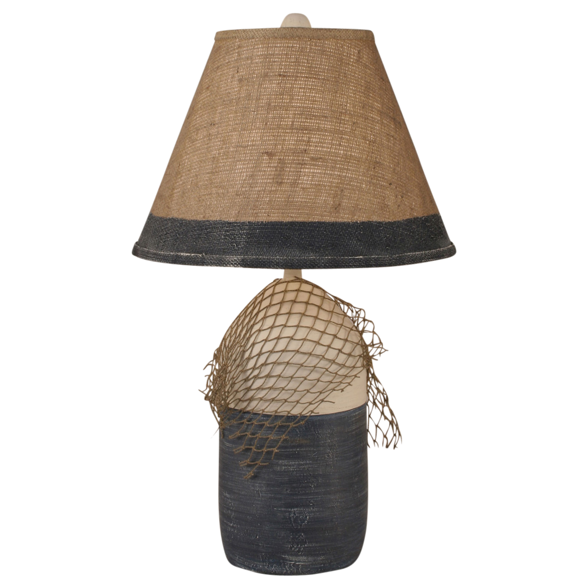Beach Table Lamps Navy Buoy And Net Table Lamp With