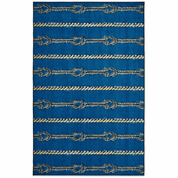Navy Knots Rug Collection
