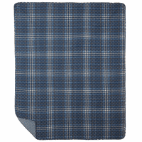 Navy Plaid Throw