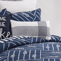 Navy Striped Pillow