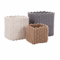 Neutral Rope Baskets - Set of 3