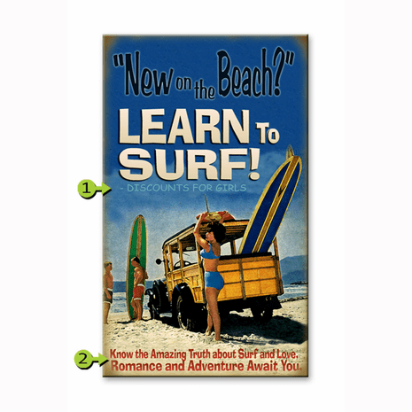 New on the Beach Personalized Sign - 23 x 39