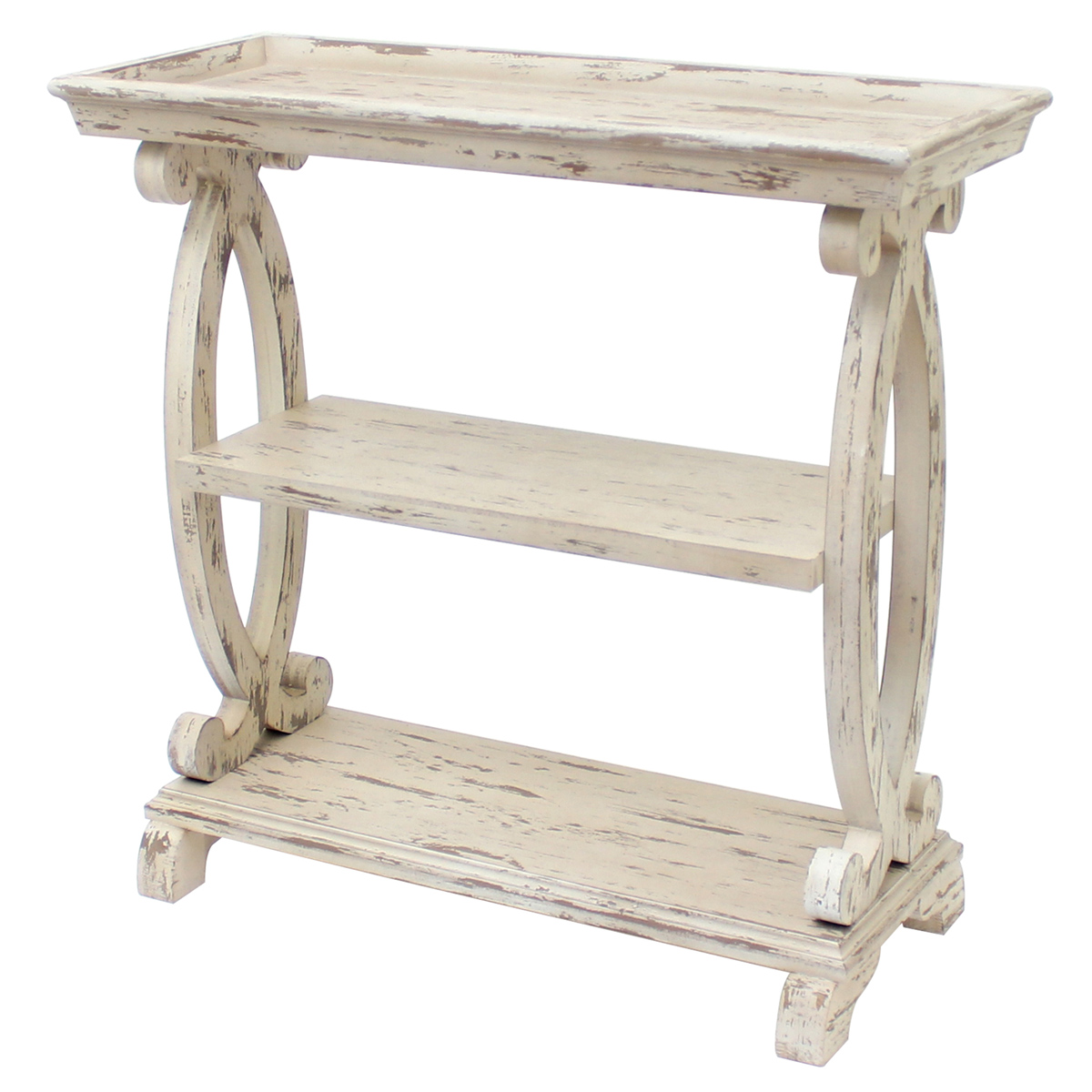 Admirable Beach Style Furniture Newport Distressed White Console Gmtry Best Dining Table And Chair Ideas Images Gmtryco