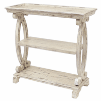 Newport Distressed White Console Table