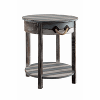 Newport Weathered Wood Accent Table