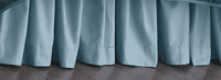 Ocean Blue Bedskirt - Full
