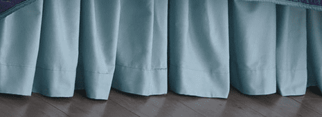Ocean Blue Bedskirt - King