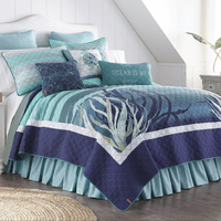 Ocean Blue Quilt Bedding Collection