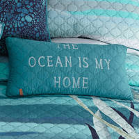 Ocean Blue Rectangle Pillow