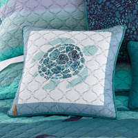 Ocean Blue Sea Turtle Pillow