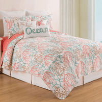 Ocean Coral Quilt Set - Twin