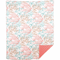 Ocean Coral Quilted Throw