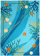 Ocean Dance Coral & Starfish Rug Collection