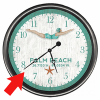 Ocean Dive Personalized Wall Clock