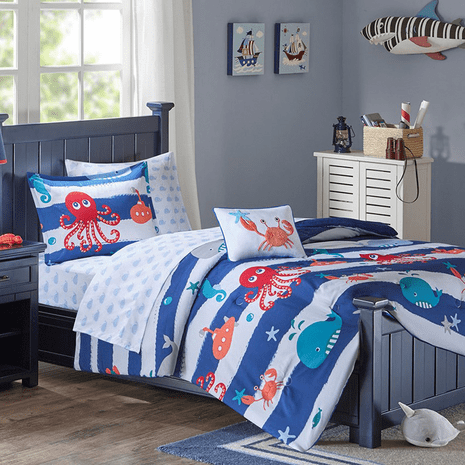 Ocean Friends Complete Comforter Set - Full/Queen