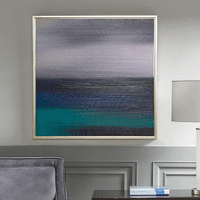 Ocean Gradient Framed Canvas