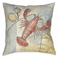 Ocean Lobster 18 x 18 Outdoor Pillow