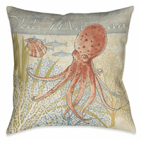 Ocean Octopus 18 x 18 Outdoor Pillow