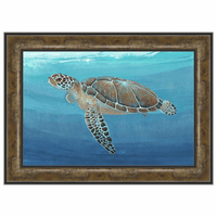 Ocean Sea Turtle II Maple Framed Print