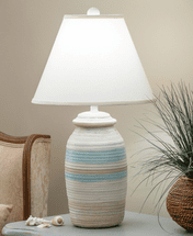 Ocean Spa Small Ribbed Pot Table Lamp