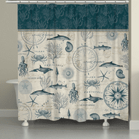 Ocean Study Shower Curtain