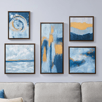 Ocean Swirls Wall Art - 5pcs