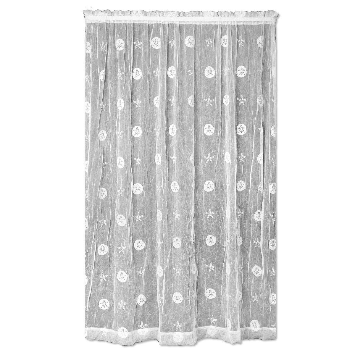 Coastal Window Treatments 45 X 72 Sand Dollar Lace Door Panelbella