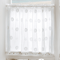 Ocean Treasure Lace Window Tier with Trim - 45 x 30