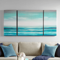 Ocean View Canvases - Set of 3
