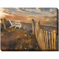 Oceanfront Sunset Indoor/Outdoor Canvas Art